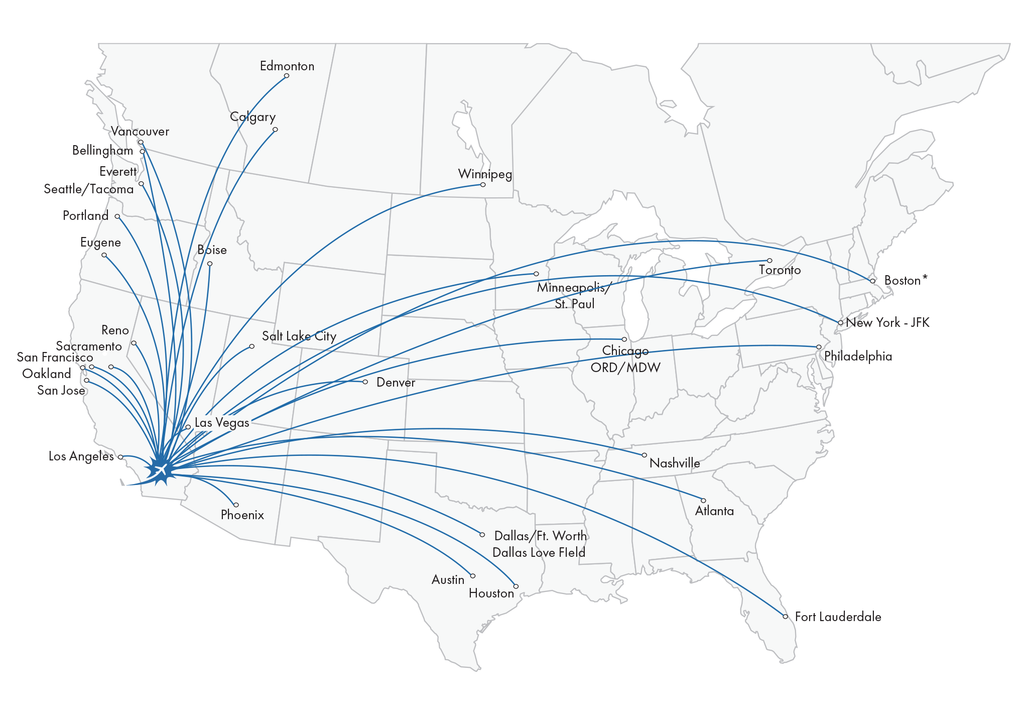 Palm Springs Airport Route Map